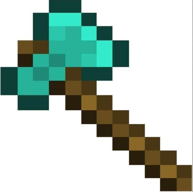 How to make Diamond Axe in Minecraft